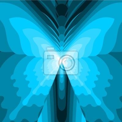 Resumen de la mariposa - Ilustración azul