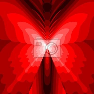 Resumen de la mariposa - Ilustración Roja