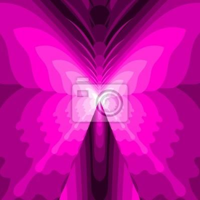 Resumen de la mariposa - Ilustración Rosa