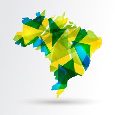 Póster Resumen mapa Brasil