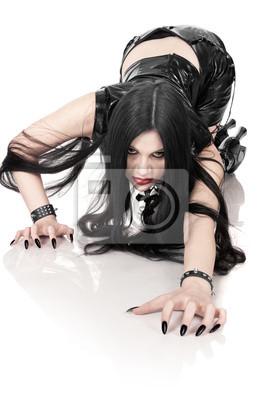 Retrato de la chica en estilo gótico