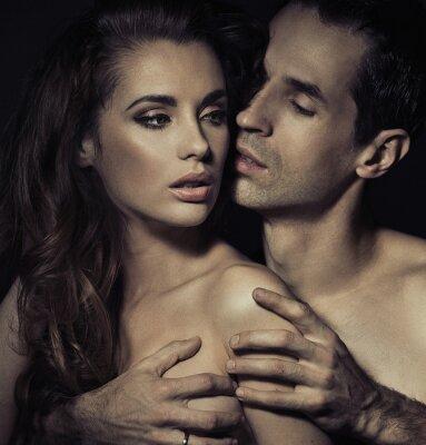 Póster Retrato de una joven pareja sensual