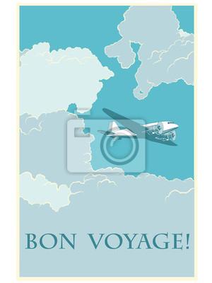 Retro avión Bon voyage