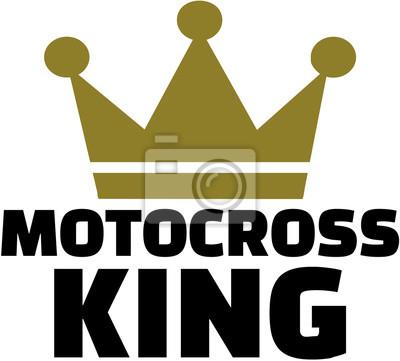 Rey del motocrós con la corona