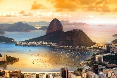 Póster Río de Janeiro, Brasil, en el crepúsculo