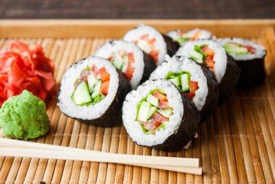 Póster Rollo de sushi vegetariano