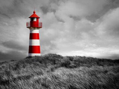 Póster Rot-Weißer Leuchtturm