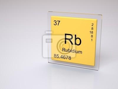 Rubidio smbolo rb elemento qumico de la tabla peridica pster rubidio smbolo rb elemento qumico de la tabla peridica urtaz Image collections