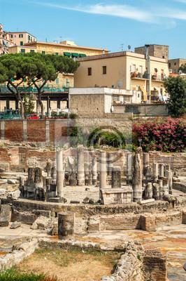 Ruinas Pozzuoli en Ciudad