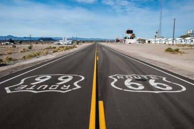 Póster Ruta 66 signo