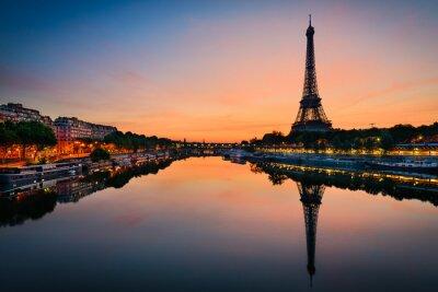 Póster Salida del sol en la torre Eiffel, París