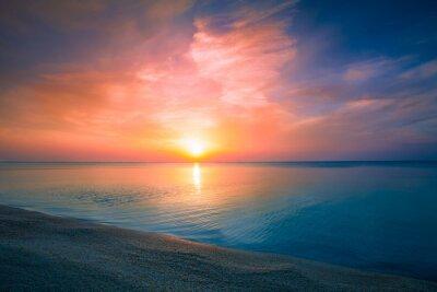 Póster Salida del sol sobre el mar