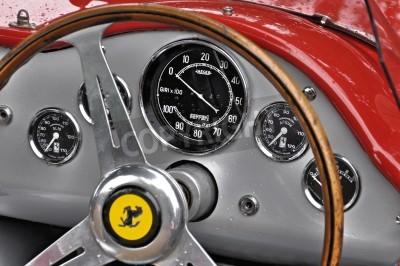 Póster Salpicadero Ferrari Vintage
