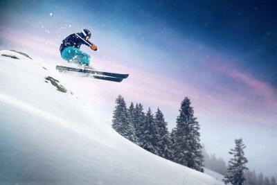 Póster Salto Con Esquís