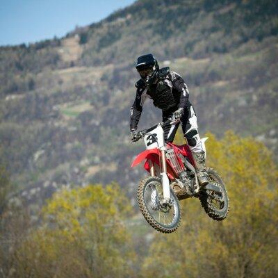 Póster Salto con moto