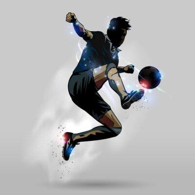 Póster Salto de fútbol toque del balón 02