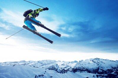 Póster Saltos Esquiador
