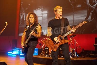 Póster San Francisco, California - 31 de agosto 2011 - Metallica toca el Salesforce.com Dreamforce 2011 convención en el Moscone Center. Esta es la primera aparición corporativa de Metallica desde el Call of