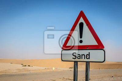 Sand Junta de Señal en el desierto, Namibia, África