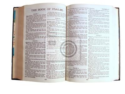 Santa Biblia Abierta Al Libro De Los Salmos Carteles Para La Pared