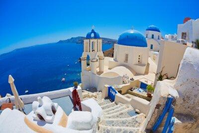 Póster Santorini, Grecia