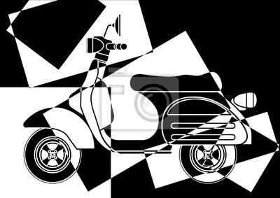 Scooter en negro y en blanco