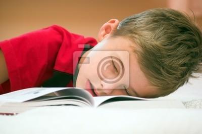 Se quedó dormido después de estudiar ...