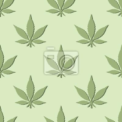 Seamless hoja de la marijuana Relanzar el fondo