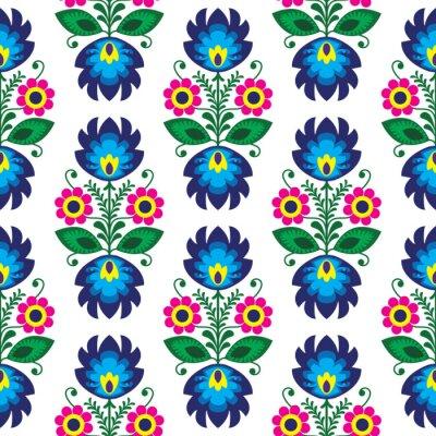 Póster Seamless patrón floral tradicional polaco - el origen étnico