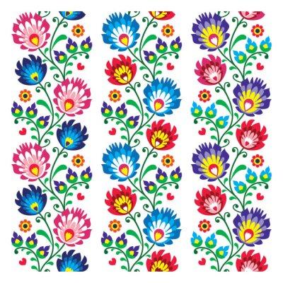 Póster Seamless patrón tradicional polaca popular - bordado sin fisuras