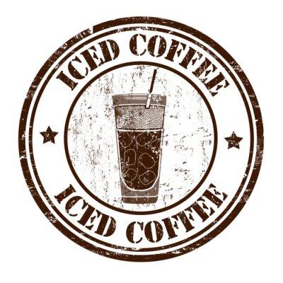 Póster Sello de café helado