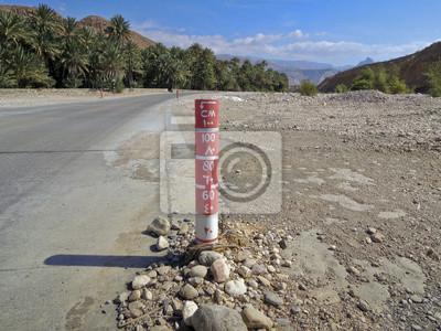 Señalización en Omán - camino inundado