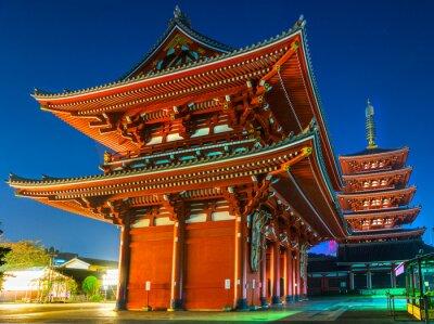 Póster Senso-ji, Templo de Asakusa, en Tokio, Japón.