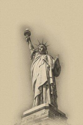 Póster Sepia toned imagen artística de la Estatua de la Libertad