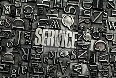 Póster servicio