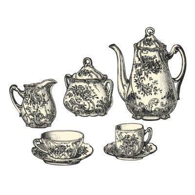 Póster Servicio à thé