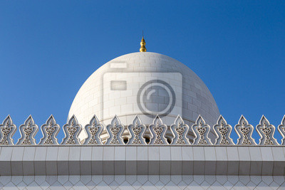 Sheikh Zayed Mezquita Dome en los Emiratos Árabes Unidos