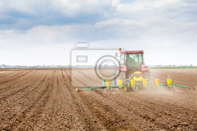 Siembra de agricultores, siembra de cultivos en el campo