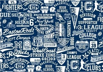 Signos College, Símbolos y collage del remiendo Gráficos