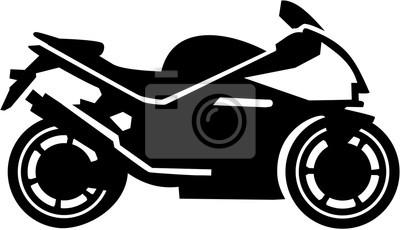 Silueta de la moto