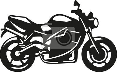Silueta de moto con detalles