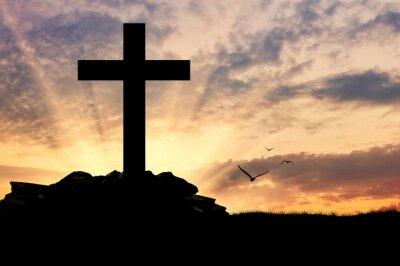 Póster Silueta de una cruz