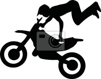 Silueta del motocrós