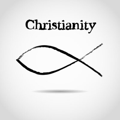 Póster Símbolo cristiano de los pescados. logo