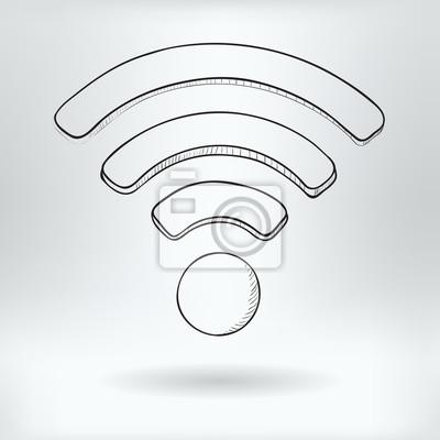 Simbolo De Dibujos Animados De Wi Fi Concepto De Internet