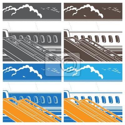 Símbolo moderno del avión de pasajeros