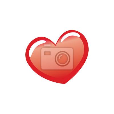 Símbolo rojo del corazón del amor