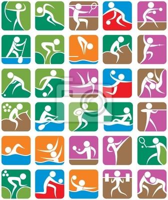 Símbolos de Verano Deportes - Coloridos