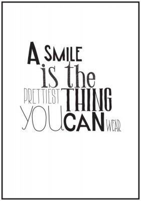 Póster Simple cartel en blanco y negro con una frase de motivación