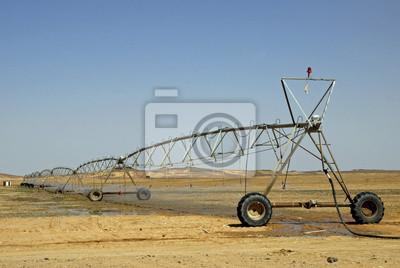 Sistema de riego en el desierto